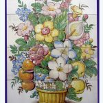 Bodegón en cerámica de colores