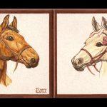 retrato de caballos a mano