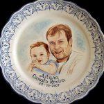 retratos a mano en cerámica