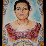 retrato a mano en ceramica