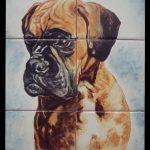 retrato perro en cerámica a mano