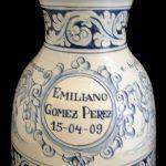 jarrón cementerio cerámica