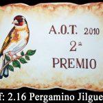 placa cerámica jilguero