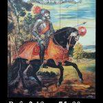 Carlos V  pintado a mano en cerámica 726