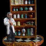 escultura farmacéutico en ceramica