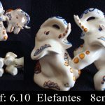 escultura elefante cerámica