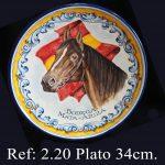 retrato de caballo en cerámica 753